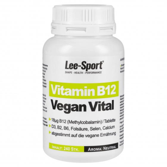 Vitamin B12 Vegan Vital, Nutrition Facts