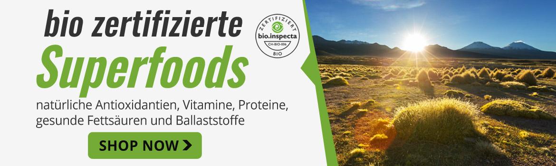 Bio zertifizierte Superfoods