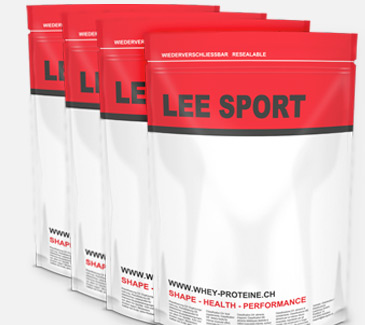Lee-Sport® Standbodenbeutel mit Zippverschluss werden in der Schweiz von Wipf AG hergestellt, sind in der Schweiz geprüft und für Lebensmittelkontakt zugelassen.