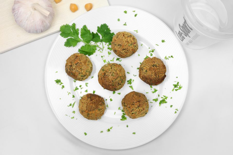 Vegane High Protein Falafel selber machen.